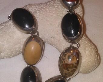 Multi Stone Sterling Silver Bracelet