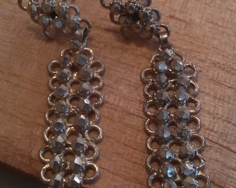 Linked Chain Sterling Silver Vintage Earrings