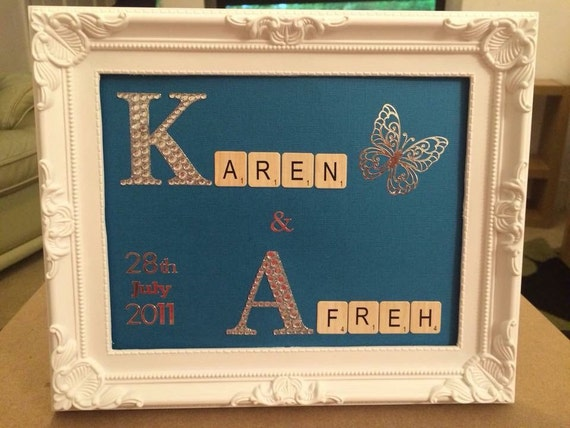 Personalised anniversary/wedding name frames. Perfect gift x