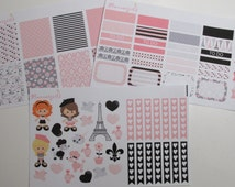 Parisian Girls MATTE Stickers Kit for the Erin Condren Vertical and Horizontal Life Planner EC