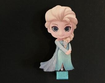 SALE!,Frozen Elsa Hair Clip,Disney Princess Hair Clip,Frozen Hair Accessory,Blue color hair clip,disney hair clip,elsa hair accessory,disney