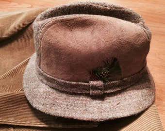 Stetson Plaid and Suede Fedora, XL
