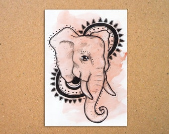 Original Elephant Illustration