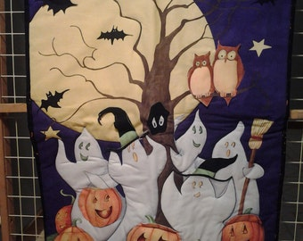 Halloween Quilted  Picture Panel