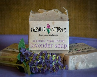 All-Natural, Lavender Soap Bar - Vegan Friendly, Cold Process