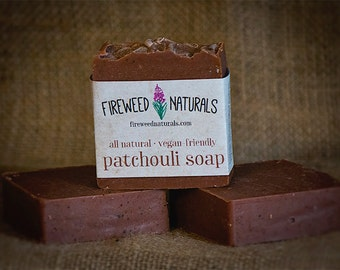 Patchouli Soap Bar - Vegan Friendly, Cold Process