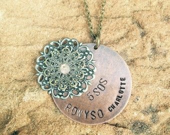 """5SOS - ROWYSO Tour Necklace. Select your city from """"Locations"""" below."""