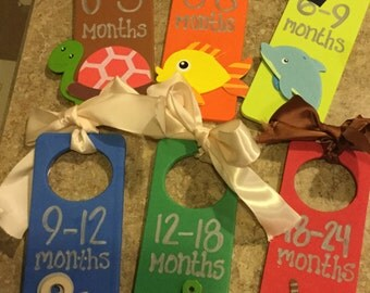 Baby Clothes Dividers, Baby Closet Dividers, Baby Closet Organizers, Baby Clothes hangers, Baby Closet