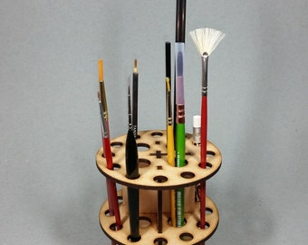 MDF Paint Brush Holder rack v1