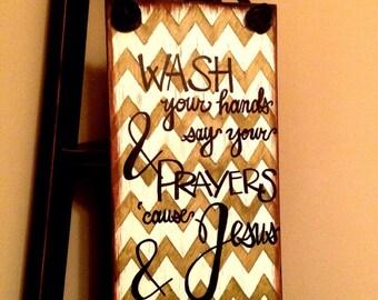 Jesus & Germs Wall Art