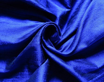 Pure Silk Fabric, Pure Dupioni Silk Fabric, Silk Fabric, Indian Silk Fabric, Blue Silk Fabric