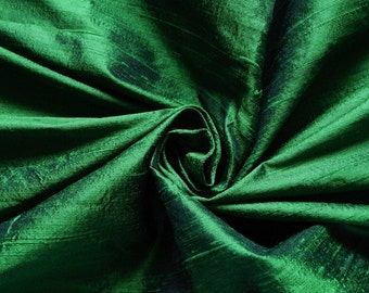 Pure Silk Fabric, Pure Dupioni Silk Fabric, Silk Fabric, Indian Silk Fabric, Green Silk Fabric