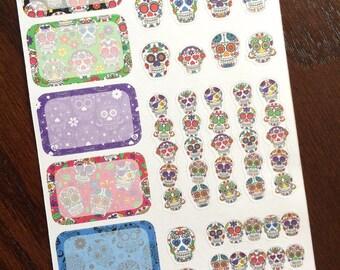 Dia de los Muertos Sampler Planner Stickers