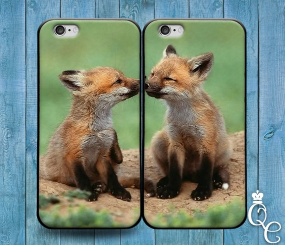 iPhone 4 4s 5 5s 5c SE 6 6s 7 plus iPod Touch 4th 5th 6th Gen Cute Best Friend Couple Bf Gf BF BFF Fox Foxes Phone Cover Adorable Fun Case