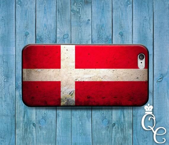 iPhone 4 4s 5 5s 5c SE 6 6s 7 plus iPod Touch 4th 5th 6th Gen Red White Cross Country Flags Denmark Danish European Flag Case Phone Cover
