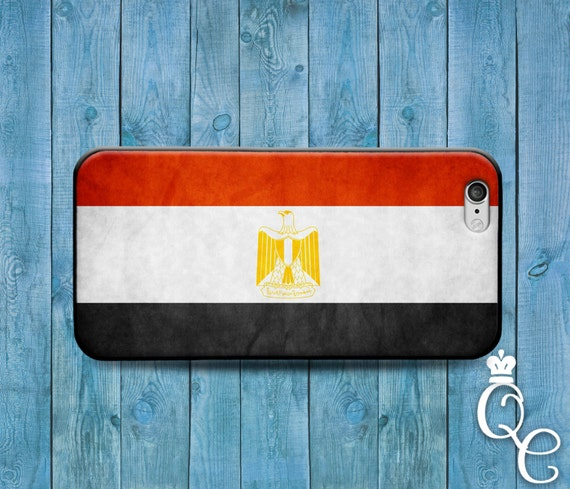 iPhone 4 4s 5 5s 5c SE 6 6s 7 plus iPod Touch 4th 5th 6th Gen Red White Black Country Flags Middle East Eastern Egypt Flag Case Cell Cover