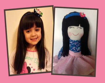 personalized doll, personalized rag doll, girl doll, personalized girl gifts, personalized girls, girl gifts, gifts for girls, for girls