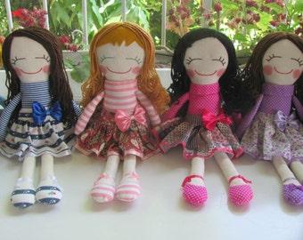 custom doll, custom made dolls, custom rag doll, custom cloth doll, handmade doll, rag doll, cusotm gift, girl gifts