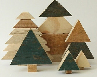 Trees of scrap wood (Christmas)