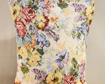Vintage Retro Multi Color Embroidered Handbag, Bohemian Hippie Bag, Tote Bag