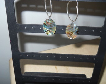 Oval Mother-Of-Pearl Earrings