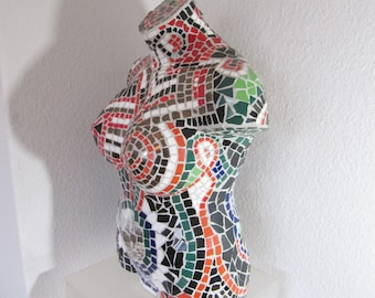 Mosaic Skuptur - mosaic sculpture – hand made unique
