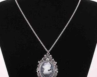 Vintage Cameo Necklace Victorian Era
