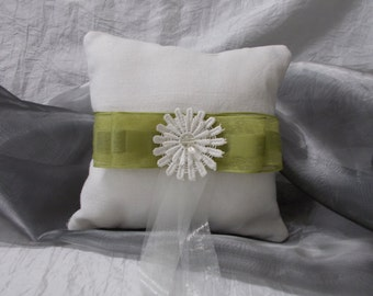 """Handmade ring cushions made of linen. """"Country Wedding"""""""