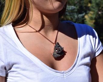 Deep Vanadinite Pendant wrapped in Copper wire ~ ON SALE!