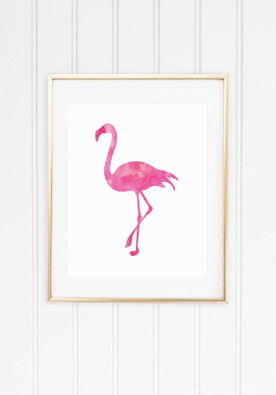 Flamingo Art Print Cute Office Decor Pink Home Decor Gifts
