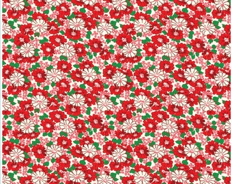 1/2 yd SALE Riley Blake Penny Rose Hope Chest Fabric Main by Erin Turner C4250 Red