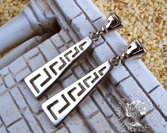 greek key earrings, meander earrings, greek earrings, goddess earrings, greek jewelry, greek key, greek, Athenas Pride earrings