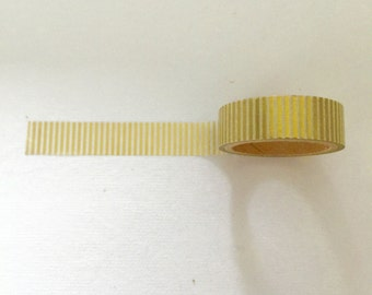 Golden Stripes Washi Tape