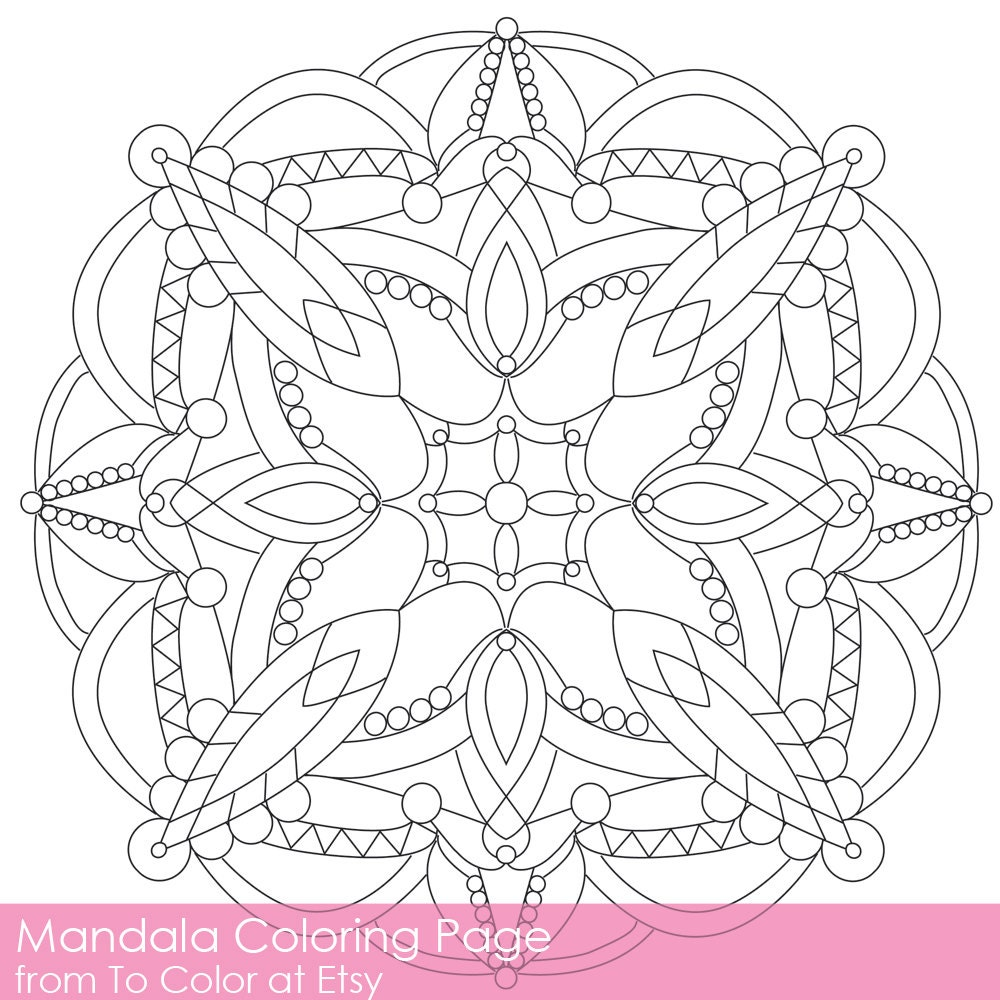 Simple Printable Coloring Pages For Adults Gel Pens By ToColor