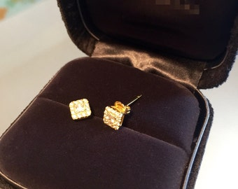 Square shinning earring