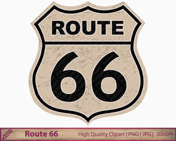route 66 clipart vintage american road sign clip art