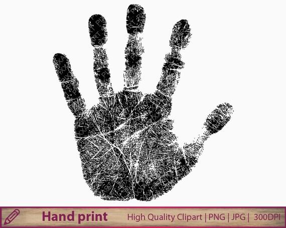 Hand print Clipart ClipArt Handabdruck Fingerabdruck