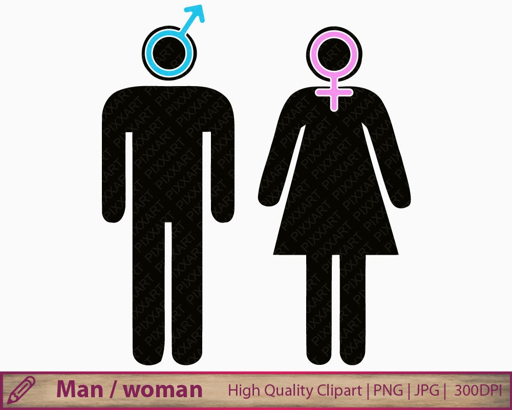 zoom. Man woman icon clipart boy girl symbol clip art toilet