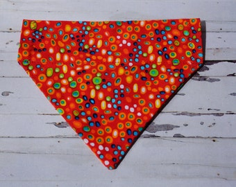 Red Spotty Bandana for Dog Collar