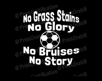 DECAL: Car/Other-  Soccer or Futbol Grass Stains decal 5.5 in W x 5.5 in H
