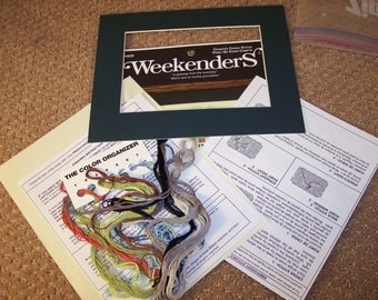 "Weekenders ""Knit and Purl"" Counted Cross Stitch Kit"
