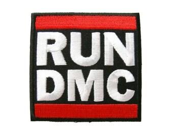 RUN DMC Music Logo Embroidered Iron On Patch