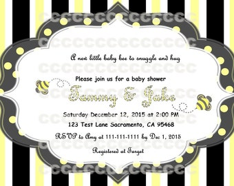 BEE PARTY INVITE -Baby shower!!