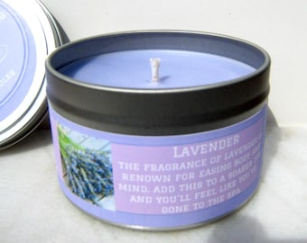 Lavender Soy Candle - Aromatherapy candle - Gift for Her - Spa Candle - Essential Oil Candle - Lavender Scented - Home Decor Candle