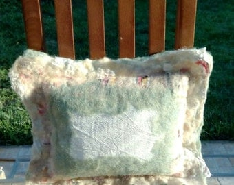 Decorative felted pillow