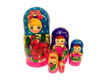 """Nesting Dolls """"Maidan"""", 5 Pieces (Russian Matryoshka Babushka Stacking Doll)"""