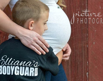 Big Brother/Bodyguard Shirt - Newborn or Maternity Photo Shoot