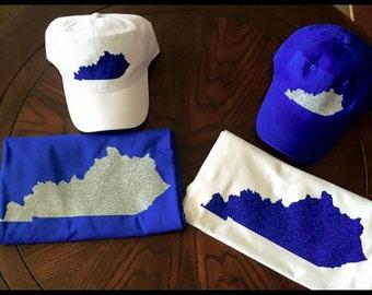 Kentucky Glitter T shirt & Hat set