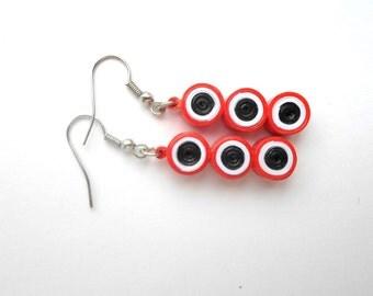 Quilling Earrings, paper quilling Earrings, red Earrings