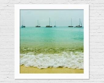 Beach Photography 8x8 print, Ocean Wall Decor, Waves Picture, Nature Photograph, Beach House Decor, Ocean Wall Art, Sea Photo, Surf Decor
